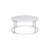 This item: Julien Chrome Base Round Cocktail table with White Marble top.