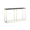 This item: Julien Chrome Base Console Table with Black Marble Top