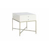 This item: Delaney White One-Drawer End Table