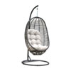 This item: Intech Grey Outdoor Hanging Chairs with Sunbrella Frequency Sand cushion, 2 Piece