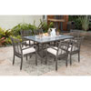 This item: Intech Grey Outdoor Dining Set with Sunbrella Getaway Mist cushion, 7 Piece