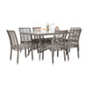 This item: Intech Grey Outdoor Dining Set with Sunbrella Dupione Bamboo cushion, 7 Piece