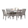 This item: Intech Grey Outdoor Dining Set with Sunbrella Air Blue cushion, 7 Piece