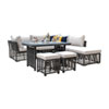 This item: Intech Grey Outdoor High Ct Sectional with Sunbrella Canvas Brick cushion, 7 Piece