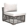 This item: Intech Grey Outdoor Modular Armless Chair with Sunbrella Dupione Bamboo cushion