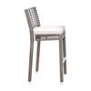 This item: Intech Grey Stackable Outdoor Barstool with Sunbrella Canvas Aruba cushion