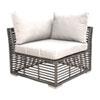 This item: Intech Grey Outdoor Modular Corner Unit with Sunbrella Canvas Vellum cushion