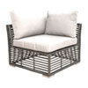 This item: Intech Grey Outdoor Modular Corner Unit with Sunbrella Canvas Navy cushion