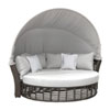 This item: Intech Grey Outdoor Canopy Daybed with Sunbrella Canvas Natural cushion