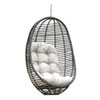 This item: Intech Grey Outdoor Woven Hanging Chair with Sunbrella Linen Silver cushion