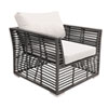 This item: Intech Grey Outdoor Lounge chair with Sunbrella Foster Metallic cushion