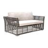This item: Intech Grey Outdoor Loveseat with Sunbrella Canvas Vellum cushion
