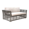 This item: Intech Grey Outdoor Loveseat with Sunbrella Canvas Coal cushion