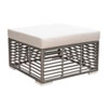 This item: Intech Grey Outdoor Square Ottoman with Sunbrella Canvas Black cushion