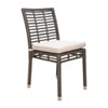 This item: Intech Grey Outdoor Stackable Side Chair with Sunbrella Spectrum Almond cushion