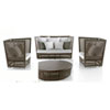 This item: Bronze Grey Outdoor Seating Set Sunbrella Canvas Jockey Red cushion, 4 Piece