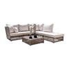 This item: Bronze Grey Outdoor Sectional Set Sunbrella Bay Brown cushion, 6 Piece