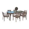 This item: Bronze Grey Dining Set with Sunbrella Getaway Mist cushion, 7 Piece