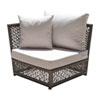 This item: Bronze Grey Outdoor Modular Chairs with Sunbrella Cabana Regatta cushion