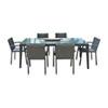 This item: Onyx Black Outdoor Dining Set with Sunbrella Gavin Mist cushion, 7 Piece