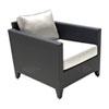 This item: Onyx Black Outdoor Lounge Chair with Sunbrella Canvas Aruba cushion