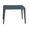 This item: Onyx Black Square Outdoor Tables with Glass