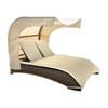 This item: Big Sur Dark Brown Outdoor Canopy Daybed with Sunbrella Gavin Mist cushion