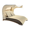This item: Big Sur Dark Brown Outdoor Canopy Daybed with Sunbrella Solana Seagull cushion