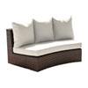 This item: Big Sur Dark Brown Outdoor Curved Loveseat with Sunbrella Peyton Granite cushion