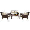 This item: Oasis Java Brown Outdoor Seating Set Sunbrella Canvas Melon cushion, 4 Piece