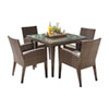 This item: Oasis Java Brown Outdoor Dining Set with Sunbrella Blox Slate cushion, 5 Piece