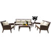 This item: Oasis Java Brown Outdoor Seating Set with Sunbrella Linen Champagne cushion, 5 Piece