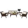 This item: Oasis Java Brown Outdoor Seating Set with Sunbrella Canvas Regatta cushion, 5 Piece