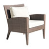 This item: Oasis Java Brown Outdoor Lounge Chair with Sunbrella Canvas Navy cushion