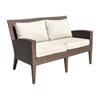 This item: Oasis Java Brown Outdoor Loveseat with Sunbrella Gavin Mist cushion