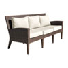 This item: Oasis Java Brown Outdoor Sofa with Sunbrella Passage Poppy cushion