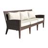 This item: Oasis Java Brown Outdoor Sofa with Sunbrella Getaway Mist cushion