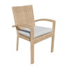 This item: Austin Linen Silver Outdoor Dining Arm Chair, Set of Two