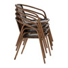 This item: Espresso Cafe Stackable Armchair, Set of 4
