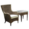 This item: Sanibel Canvas Macaw Two-Piece Lounge Chair Set with Cushion