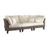 This item: Sanibel Spectrum Graphite Three-Piece Sofa Set with Cushion