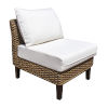 This item: Sanibel Patriot Birch Armless Chair with Cushion