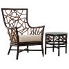 This item: Trinidad Canvas Navy Two-Piece Occasional Chair Set with Cushion