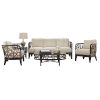 This item: Trinidad Patriot Cherry Five-Piece Living Set with Cushion