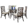 This item: Trinidad Nautilus Champagne Six-Piece Indoor Dining Set with Cushion
