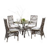 This item: Bora Bora York Blueberry Six-Piece Indoor Dining Set with Cushion