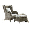 This item: Exuma Canvas Black Two-Piece Occasional Chair with Cushion
