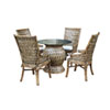 This item: Old Havana Patriot Cherry Six-Piece Dining Set with Cushion