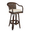 This item: Key West York Bluebell Swivel Rattan and Wicker 30-Inch Bar Stool