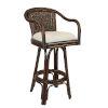 This item: Key West York Dove Swivel Rattan and Wicker 30-Inch Bar Stool